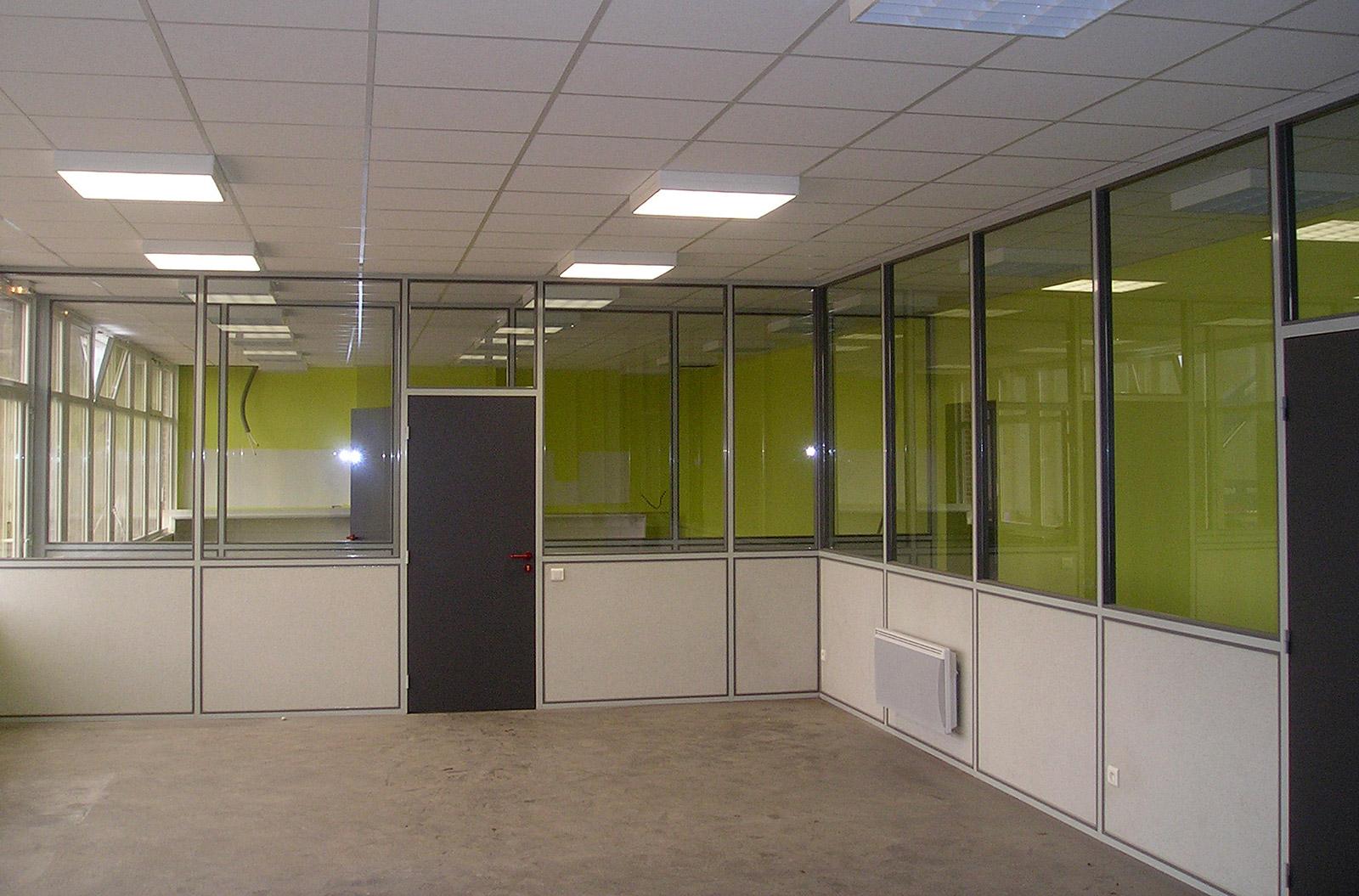 Nasal rayonnage galerie cloisons profil aluminium - Cloison aluminium bureau ...
